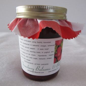 Strawberry Balsamic & Black Pepper Jam