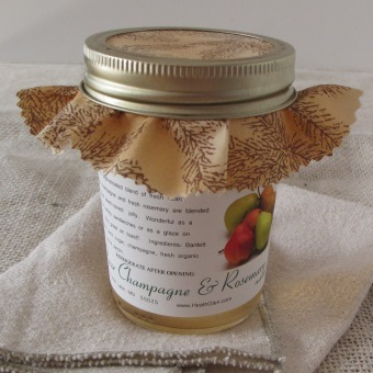 Pear Champagne & Rosemary Jelly