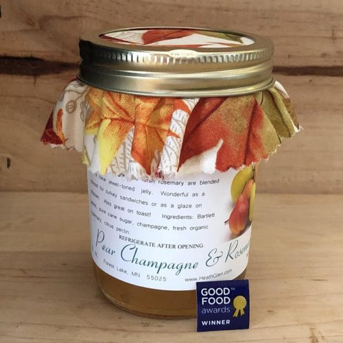 Pear Champagne and Rosemary Jelly