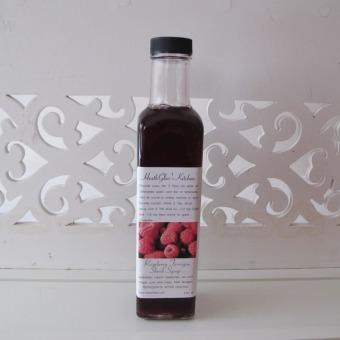 Raspberry Tarragon Shrub Syrup
