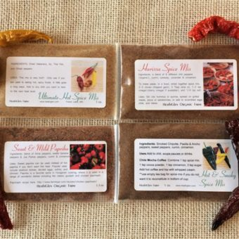 Sweet to Hot Chile Pepper Spice Mixes